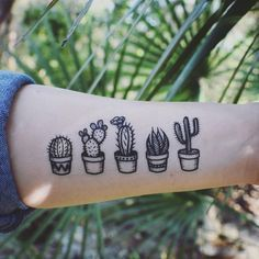"""414 Likes, 13 Comments - NatureTats ~ TEMPORARY TATTOOS (@naturetats) on Instagram: """"Tiny potted cactus temporary tattoos! They're listed in our shop, you'll get all 5! Getcha some! #…"""""""