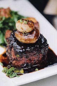 Photo by Mikayla Whitmore Salmon Burgers, Steak, Ethnic Recipes, Vegas, Clever, Food, Art, Art Background, Salmon Patties