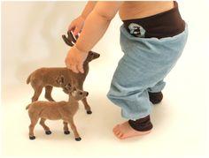 """Hosen - Babyhose """"Platzhirsch"""" - ein Designerstück von pickNicker_blue bei DaWanda"""