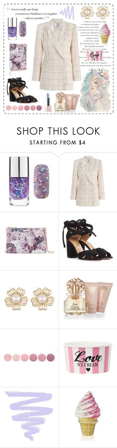 """""""Working like a Model"""" by fashionistalee ❤ liked on Polyvore featuring BCBGMAXAZRIA, Forever 21, Zimmermann, Ted Baker, Aquazzura, Vince Camuto, Deborah Lippmann, Judith Leiber and Sephora Collection"""