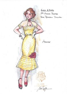 Guys and Dolls (Adelaide). Costume design by Gregory A. Popl… Guys and Dolls (Adelaide). Costume design by Gregory A. Broadway Costumes, Theatre Costumes, Ballet Costumes, Alice Costume, Doll Costume, Guys And Dolls Musical, Drag Clothing, Costume Design Sketch, Librarian Style