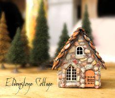 Elvenstone Cottage  Miniature Fairy House with by bewilderandpine, $39.00