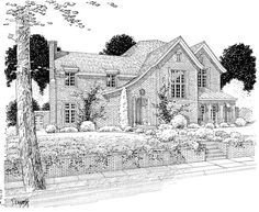 House Plan 402-01087 - French Country Plan: 6,797 Square Feet, 4 Bedrooms, 6 Bathrooms