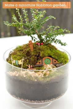 Build your own miniature Hobbit hole. This is cooler than a fairy garden.