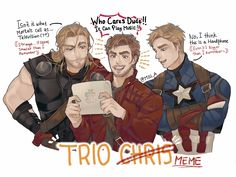 Avengers: Infinity War || Thor,Peter Quill (Star-Lord),Steve Rogers (Captain America)