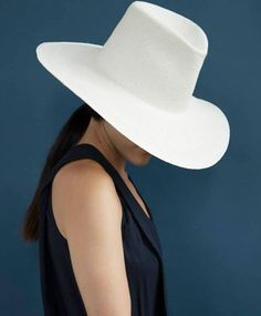 Straw Panama Pinch Hat by Clyde