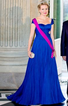A beautiful Queen Mathilde of Belgium