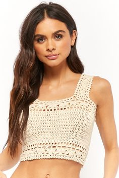 Forever 21 is the authority on fashion & the go-to retailer for the latest trends, styles & the hottest deals. Shop dresses, tops, tees, leggings & more! Crochet Bikini Bottoms, Crochet Bikini Pattern, Swimsuit Pattern, Crochet Cardigan Pattern, Crochet Blouse, Crochet Scarves, Crochet Clothes, Crochet Summer Tops, Crochet Crop Top