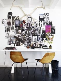 A real focal point for this eclectic wall collage!