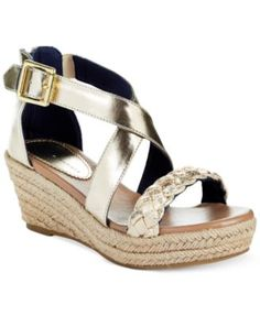 bd16eb3a Tommy Hilfiger Girls' or Little Girls' Anastasia Braid Wedges & Reviews -  Kids' Shoes - Kids - Macy's