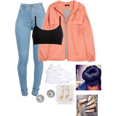 Untitled #88 by baby-boogaloo on Polyvore featuring A.P.C., NIKE, OroClone and Happy Plugs
