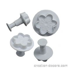 Veined 6 petal flower plungers (3pc) PRICE:  R60 For more info & orders, email SweetArtBfn@gmail.com