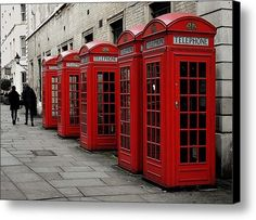Waiting For A Call Canvas Print / Canvas Art By Dorothy Berry-lound #redtelephonebox #london  #interiordecor #printforsale