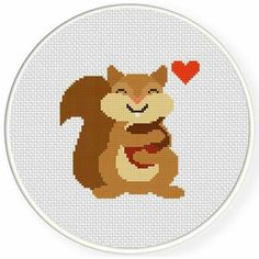 Animals & Creatures – Page 15 – Daily Cross Stitch Cross Stitch For Kids, Cute Cross Stitch, Cross Stitch Heart, Cross Stitch Animals, Cross Stitch Designs, Cross Stitch Patterns, Cross Stitching, Cross Stitch Embroidery, Embroidery Patterns
