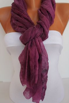 Purple/black Soft tulle Shawl / Scarf  Headband seamless by DIDUCI, $13.50