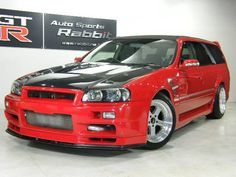 NISSAN STAGEA 25T RS FOUR S - Because you know you want an R34 Skyline estate car...