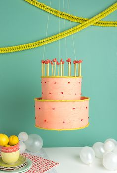 Birthday Party Decorations for girls, boys, men and women. It's rare to find party decor that will last for any theme each year. Try this DIY Birthday Cake Chandelier by The House That Lars Built. Diy Birthday Cake, Birthday Decorations, Birthday Parties, Brithday Cake, Birthday Crafts, Festa Party, Diy Party, Party Favors, Party Ideas