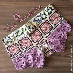 Crochet Swimwear Discovred by : Chiêu Firefly Crochet Gilet Crochet, Crochet Pants, Crochet Skirts, Crochet Clothes, Cute Crochet, Crochet Baby, Crochet Bikini, Knit Crochet, Baby Bikini
