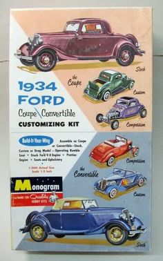 Monorgam - 1934 Ford coupe/convertible customizing kit.