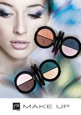 Our FM Group Duo Eyeshadows    These ultra-delicate pigments make the eye shadows adhere to the eyelids very well, they do not fall or settle in the bends of the eyes.