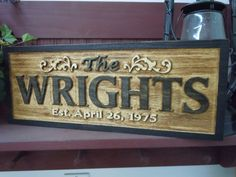 Family Last Name Personalized 3D Raised Lettering by TKWoodcrafts, $49.95