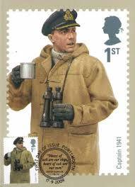 British Stamp 2009 -  Royal Navy  Military Uniforms Captain 1941