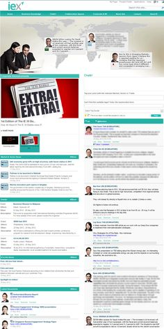 International Enterprise Singapore homepage. This is the winning entry of My Beautiful Intranet (Goes Social) 2012.