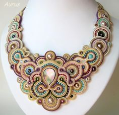 Absolutely amazing and gorgeous Soutache necklace by Aurus
