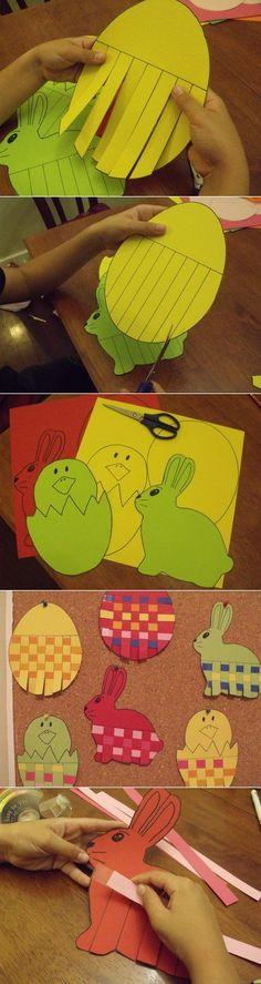 Pleins d'idées pour faire des activités autour de pâques avec les enfants. DYI easter