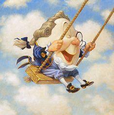 """Humpty Dumpty"" ~ Scott Gustafson ~ Miks' Pics ""Artsy Fartsy Vl"" board @ http://www.pinterest.com/msmgish/artsy-fartsy-vl/"