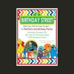New Sesame Street birthday design!