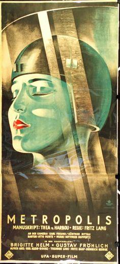 Affiche film Metropolis, 1927. Pyke Koch was a passionate film fan