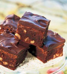 Cinnamon-Chocolate Brownies with Chocolate Ganache - Bon Appétit