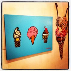 """""""Three Scoops"""" at Cannibal Flower Exhibit in LA!!"""