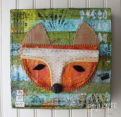 Fox Face #fox #art #canvas #boy