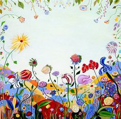 Flowers - Time Flies Paintings - Contemporary Abstract and Expressionist Paintings and Art Installations of Natasha Lukanovich