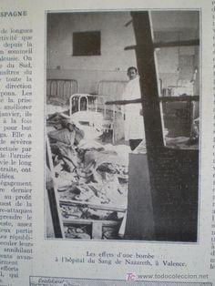 Heridos a causa de los bombardeos en la ciudad de Valencia durante la Guerra Civil.