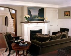 Incroyable Brown Velvet Sofa Living Room Traditional With Classic Classical Crown  Molding