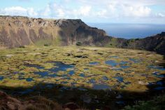 Rano Kau crater on Easter Island