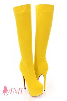 Dsquared2 yellow boots WOW!!! | Made for walkin' | Pinterest ...