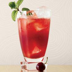 White rum, cherries, serrano chile, mint, lemon, soda // More Refreshing White Rum Cocktails: http://www.foodandwine.com/slideshows/white-rum-cocktails #foodandwine