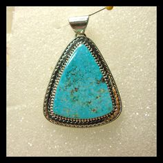 J. Piaso Jr Sterling Silver and Turquoise Pendant