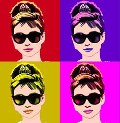 Audrey Hepburn by Andy Warhol. Inspiration for Model Under Cover: Stolen with Style. http://www.carinaaxelsson.com #modelundercover #stolenwithstyle