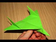 Avião de papel - (Voa muito / Testado) - YouTube