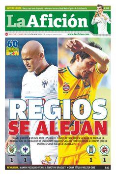 Portada La Afición Ed. Monterrey 13/04/14 | REGIOS SE ALEJAN