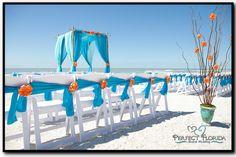Florida Beach Wedding Citrus Decor beautiful, beach weddings Beach Wedding Ceremonies www.idealidos.com