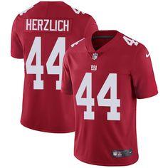Youth Nike New York Giants #44 Mark Herzlich Limited Red Alternate NFL Jersey