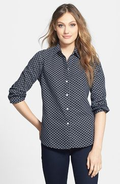 Love the print, wish it came in a non-button-down option.