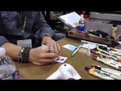 Tim Holtz demo's the new ranger distress markers. I have wished and wished for distress markers for ever and I can't wait to get my hands on some!