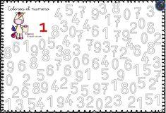 Fichas para trabajar los números 0 al 9 - Imagenes Educativas Letter Tracing Worksheets, Printable Alphabet Letters, Tracing Letters, Preschool Worksheets, Preschool Learning, Educational Activities, In Kindergarten, Activities For Kids, Math Literacy